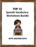 Spanish Fun Worksheets Mini Bundle: 8 Worksheets at 40% off!