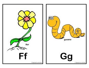 Spanish Fun for Kids Alphabet Cards