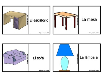Spanish Fun for Kids Flash Cards set 1