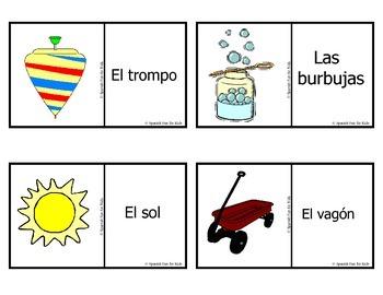 Spanish Fun for Kids Flash Cards set 4