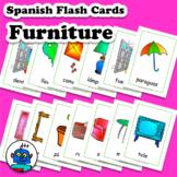Spanish Furniture Flash Cards - Tarjetas de vocabulario de muebles Español