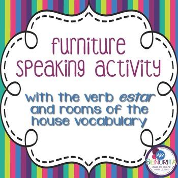 Spanish Furniture Speaking Activity
