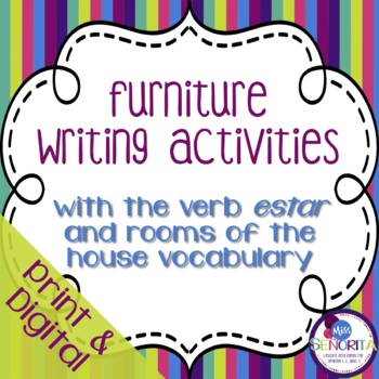 Spanish Furniture Writing Activities