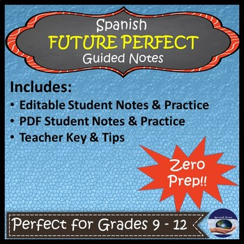 Spanish Future Perfect - Guided Notes and Key