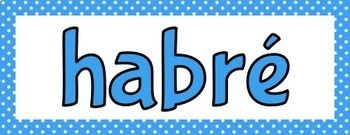 Spanish Future Perfect Tense Verb Conjugations Bulletin Board Set
