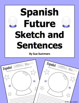 Spanish Future Sketch and Sentences - Future Tense or Ir A + Infinitive