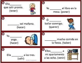 Spanish Future Task Cards - El futuro - 24 Small Task Cards - FREEBIE !!