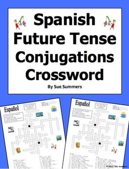 Spanish Future Tense 30 Conjugations Crossword Puzzle