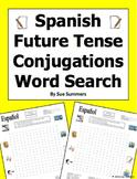 Spanish Future Tense 30 Conjugations Word Search Puzzle