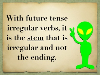 Spanish Future Tense Irregular Verbs Keynote Slideshow Presentation