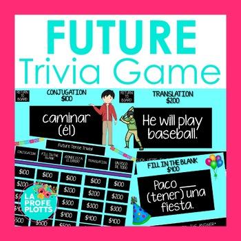 Spanish Future Tense Jeopardy-Style Trivia Game
