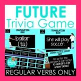 Spanish Future Tense Jeopardy-Style Trivia Game (REGULAR V