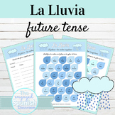 Spanish Future Tense La Lluvia Activities