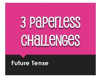 Spanish Future Tense Paperless Challenges