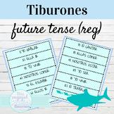 Spanish Future Tense Regular Verbs Tiburones Conjugation Game