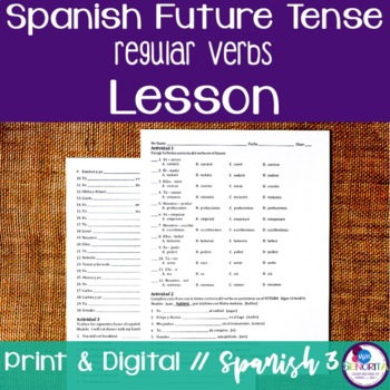 Spanish Future Tense Lesson - Regular Verbs