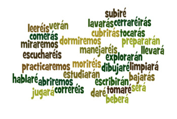 Spanish Future Tense Regular Verbs Partner Games