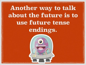 Spanish Future Tense Regular Verbs PowerPoint Slideshow Presentation