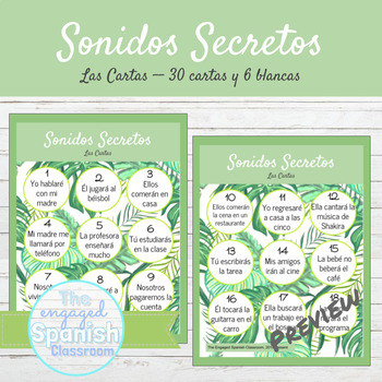 Spanish Future Tense Sonidos Secretos Speaking Activity