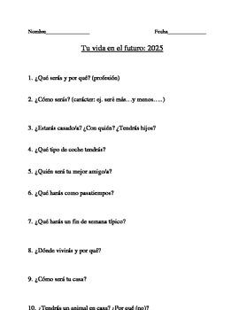Spanish Future Tense Student Activities Bundle