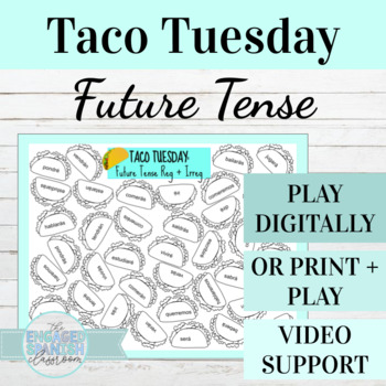 Spanish Future Tense TACO TUESDAY Conjugation Game, El Futuro