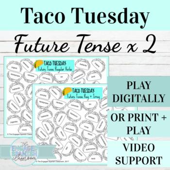 Spanish Future Tense TACO TUESDAY Conjugation Games, El Futuro