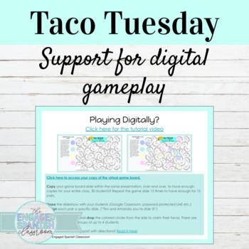 Spanish Future Tense Taco Tuesday Games