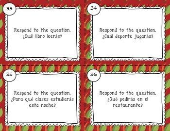 Spanish Future Tense Task Cards by Manzana para la maestra ...