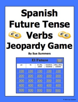 Spanish Future Tense Verbs Jeopardy Game - Spanish Games