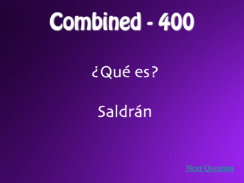 Spanish Future and Conditional Jeopardy-Style Review Game