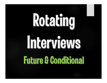 Spanish Future and Conditional Rotating Interviews