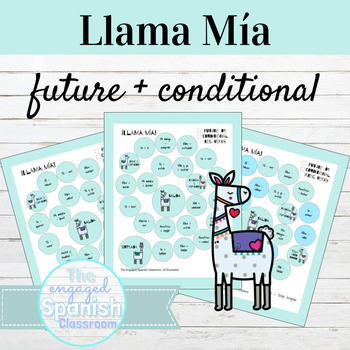 Spanish Future and Conditional Llama Mía Speaking Activities