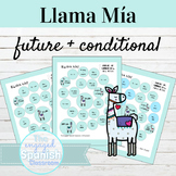 Spanish Future and Conditional Llama Mía Speaking Activities