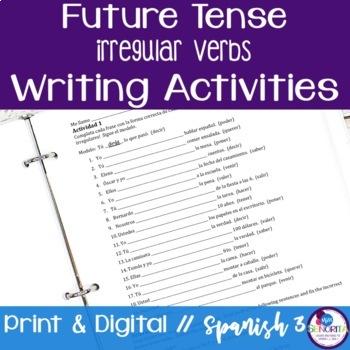 Spanish Future Tense Writing Exercises - Irregular Verbs