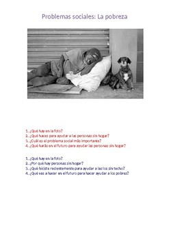 Spanish GCSE: La pobreza (Photo cards)