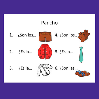 Spanish Possessive Adjectives Dice Game and Paired Speaking Activities