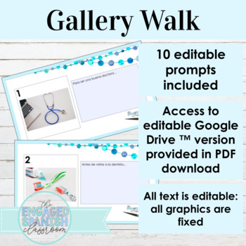 Spanish Present Subjunctive Gallery Walk Writing Activity