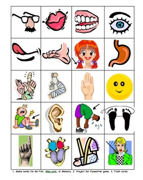 Spanish Game Cards / Flashcards Bundle of 10 - Also for Other Languages