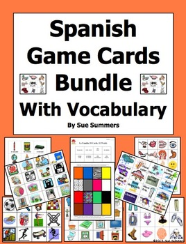 Spanish Game Cards / Flashcards Bundle of 10 - Also for Ot
