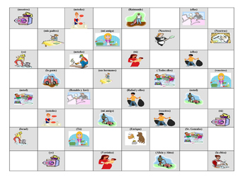 Spanish Game: Chores Checkers game for los quehaceres tener que infinitive