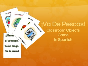 Spanish Game: Classroom Objects Go Fish