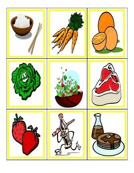 Spanish Game: Food/La comida (like UNO)