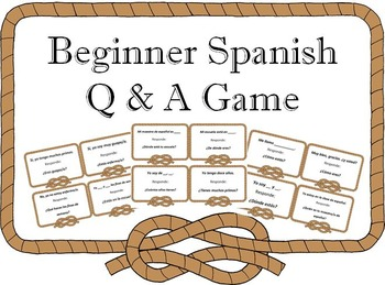 SER, ESTAR, HACER, IR, TENER Spanish Game I Have, Who Has
