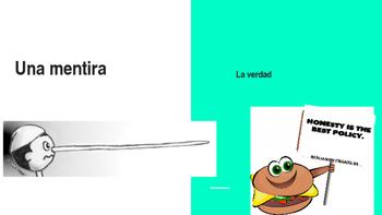 Spanish Game: Mentira o la verdad (Describing Objects)