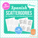 Spanish Scattergories Game for Vocabulary and Speaking Practice