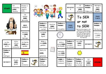 Spanish Game: Ser and pronouns