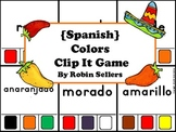 Spanish Game: Spanish Colors Clip It Game