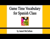 Spanish Game Vocabulary
