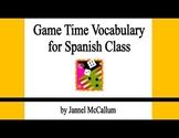 Spanish Game Vocabulary