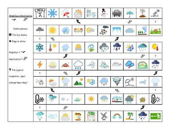 Spanish - Game - Weather / Future - Chutes and Ladders
